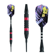 BLACK ICE SOFT TIP DART SET RED