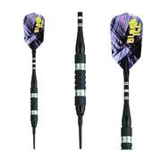 BLACK ICE SOFT TIP DART SET SILVER