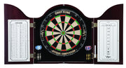 DARTBOARD CABINET CAMBRIDGE MAHOGANY