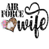 Air Force Wife HTV Print