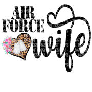 Air Force Wife Sublimation Transfer