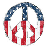 American Peace Sign Sublimation Transfer