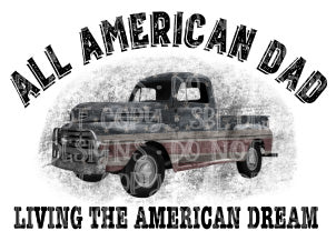 All American Dad Sublimation Transfer
