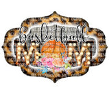 Basketball Mom With Flowers HTV Print