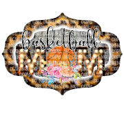 Basketball Mom With Flowers Sublimation Transfer