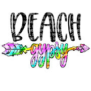 Beach Gypsy Sublimation Transfer