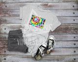 Beach Vibes Tie Dye Sublimation Transfer