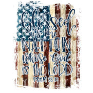Blessed Is The Nation Sublimation Transfer