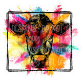 Colorful Cow Sublimation Transfer