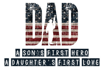 Dad A Son's First Hero Sublimation Transfer