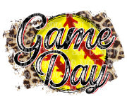 Game Day Softball Leopard Sublimation Transfer