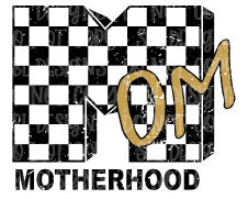 Motherhood Checkerboard HTV Print