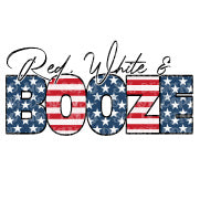 Red White & Booze HTV Print
