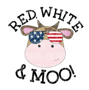 Red White & Moo Sublimation Transfer