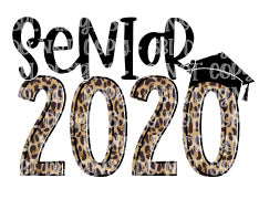 Senior 2020 Leopard Sublimation Transfer