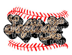 Softball Leopard Laces HTV Print