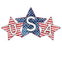 USA Star Trio Sublimation Transfer