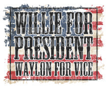 W for President W for Vice President Sublimation Transfer
