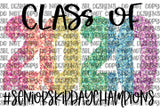 Class of 2020 Rainbow Skip Day HTV PRINT