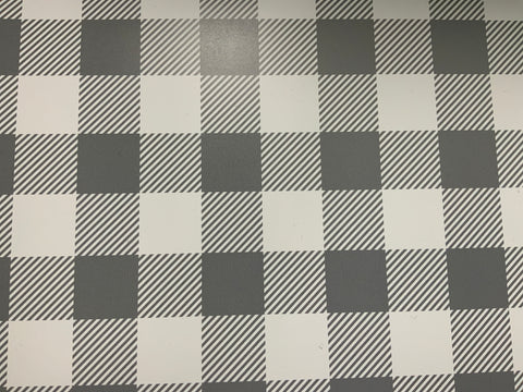 Grey Blue Stripes Buffalo Plaid HTV