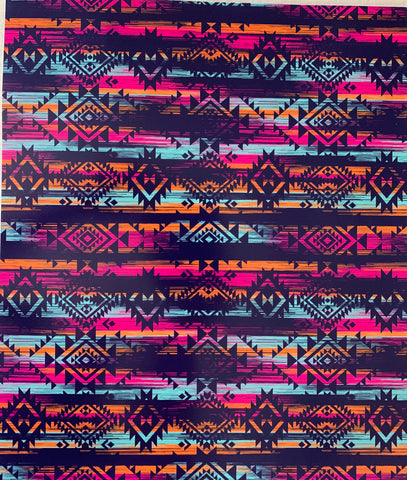 Multicolor Tribal Pattern Print HTV