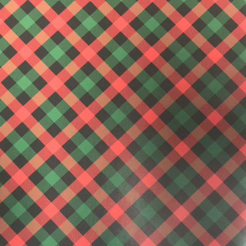 Red & Green Stripped Plaid HTV