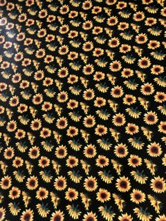 Black Sunflower Adhesive Vinyl