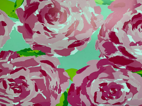 Pink & Mint Roses HTV