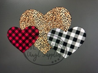 3 Valentine's Hearts Sublimation Transfer