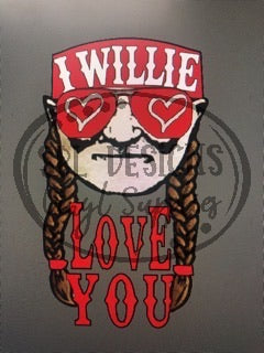 I Willie Love You Sublimation Transfer