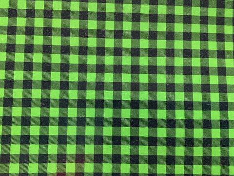 Buffalo Plaid - Green Adhesive Vinyl