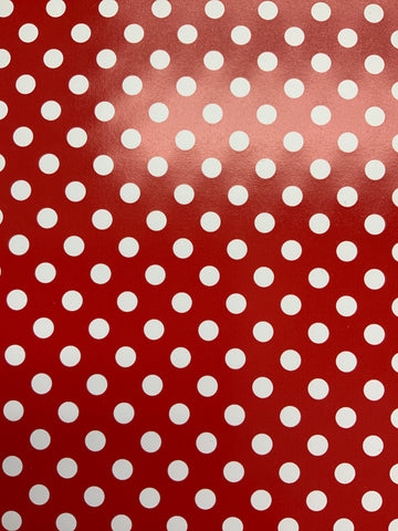Red Polka Dot HTV