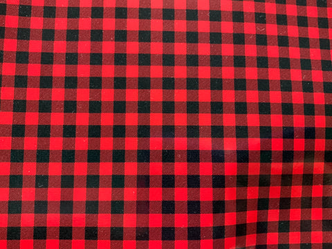 Buffalo Plaid - Red Adhesive Vinyl
