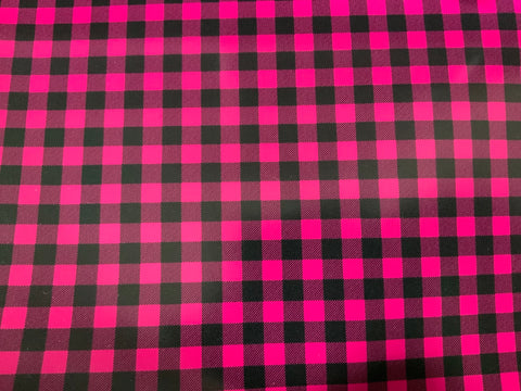Hot Pink Buffalo Plaid HTV