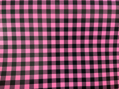 Light Pink & Black Buffalo Plaid HTV