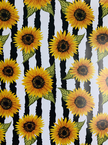 Sunflower Stripes Adhesive Vinyl