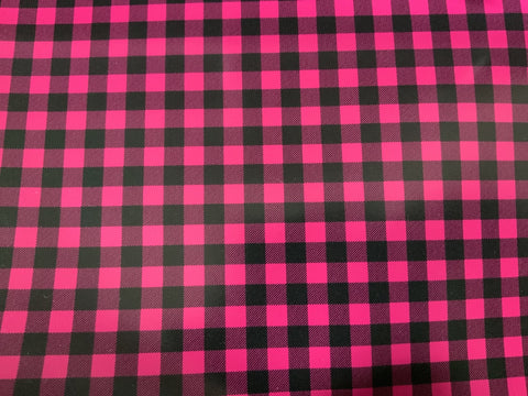 Hot Pink Buffalo Plaid Adhesive Vinyl