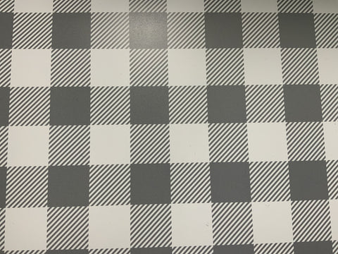 Grey Buffalo Plaid Adhesive Vinyl