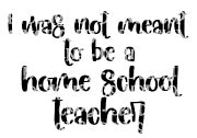 I Was Not Meant To Be a Home School Teacher HTV PRINT