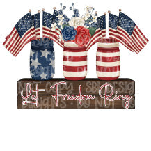 Let Freedom Ring HTV Print