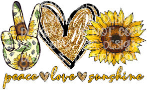 Peace Love Sunshine HTV Print