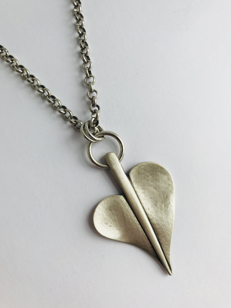 Danon Silver Leaf of Love Necklace