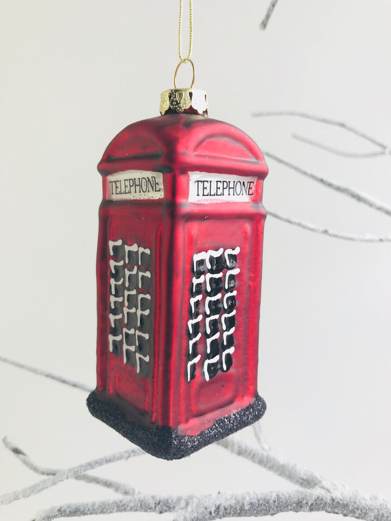 Christmas Tree Phone box Decoration, Red
