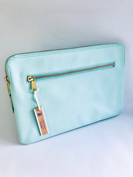 Busy B Large Pouch, Pale Turquoise