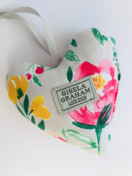 Gisela Graham Scented Floral Fabric Heart