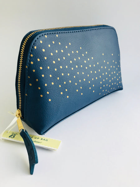 Busy B Cosmetic Purse/Bag, Navy Blue