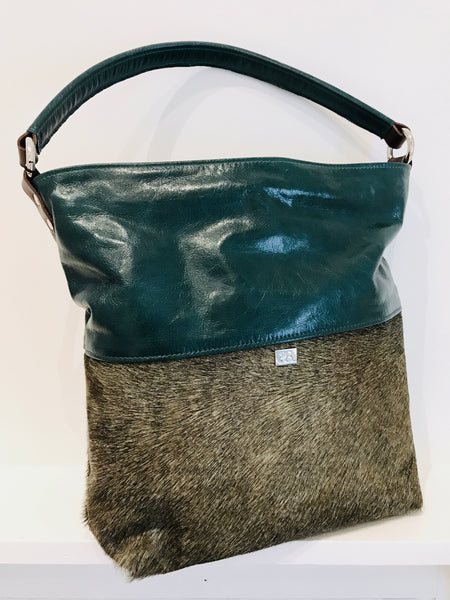 Owen Barry Leather & Cowhide Bag, Green