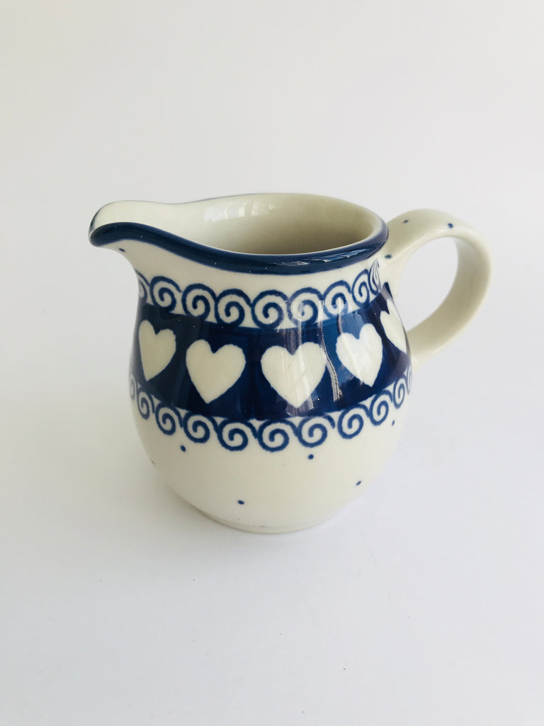 Polish Pottery Small Heart Jug