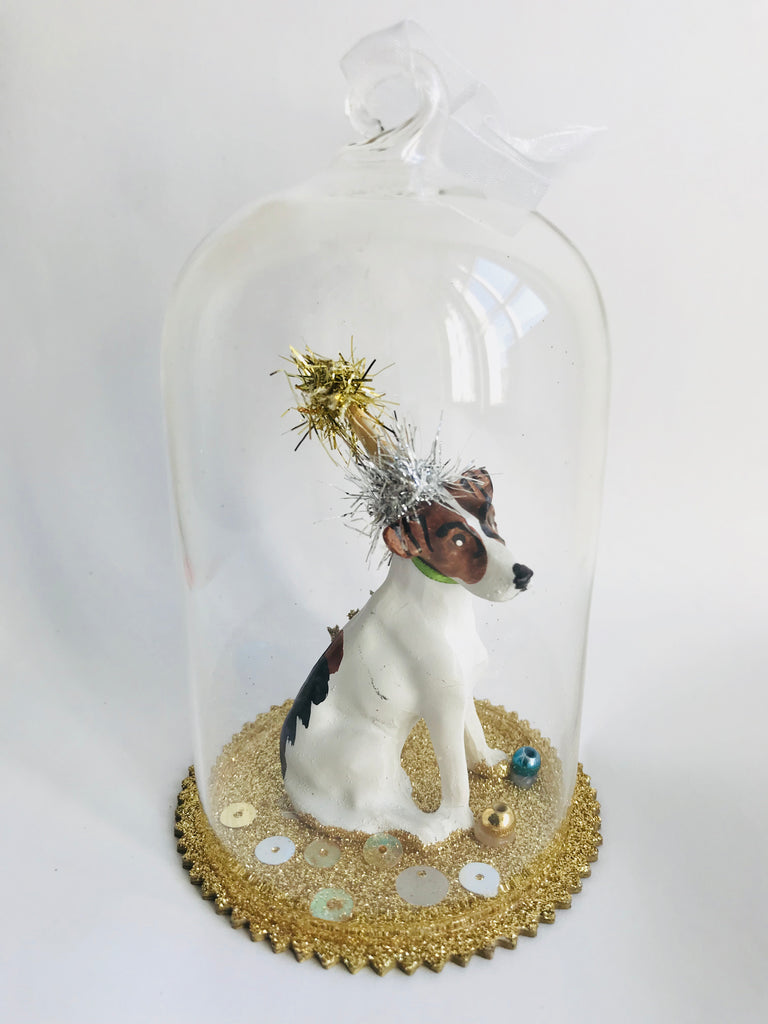 Christmas Tree Glass Decoration, Party Dog