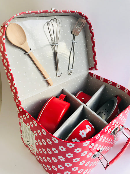 Sass & Belle Kids Cooking Set, Red